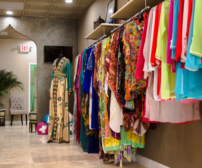 clothing selection at Le Beau Maroc