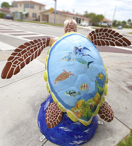 Surfside Sea Turtle Art by Algazi