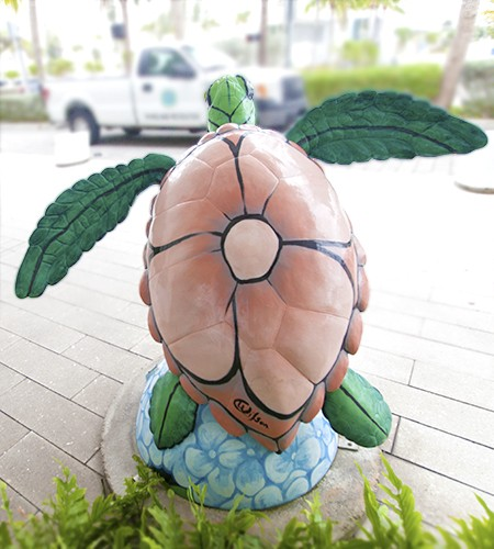 Surfside Sea Turtle Art by Derrick Wilson
