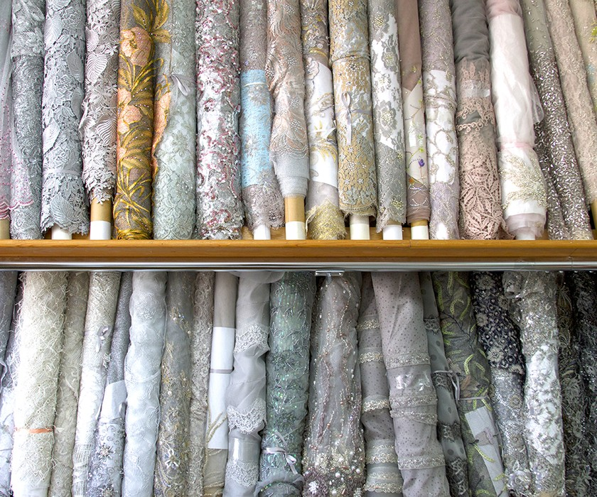 Lace fabric selection