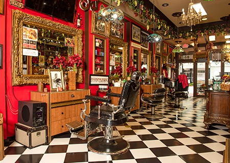 Picture of Razzledazzle barbershop main area