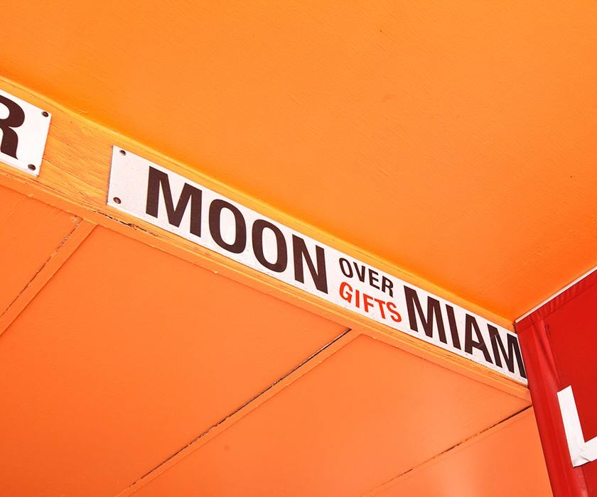 Moon Over Miami Sign