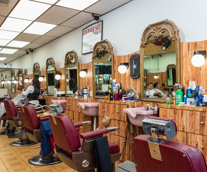 Inside Carousel Barber Shop