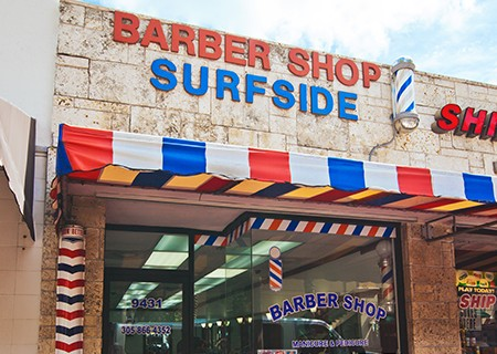 Surfside Barber Shop Storefront