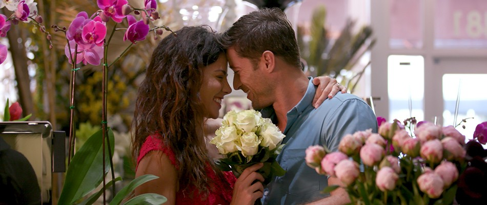 Couple in Absolut Flower shop