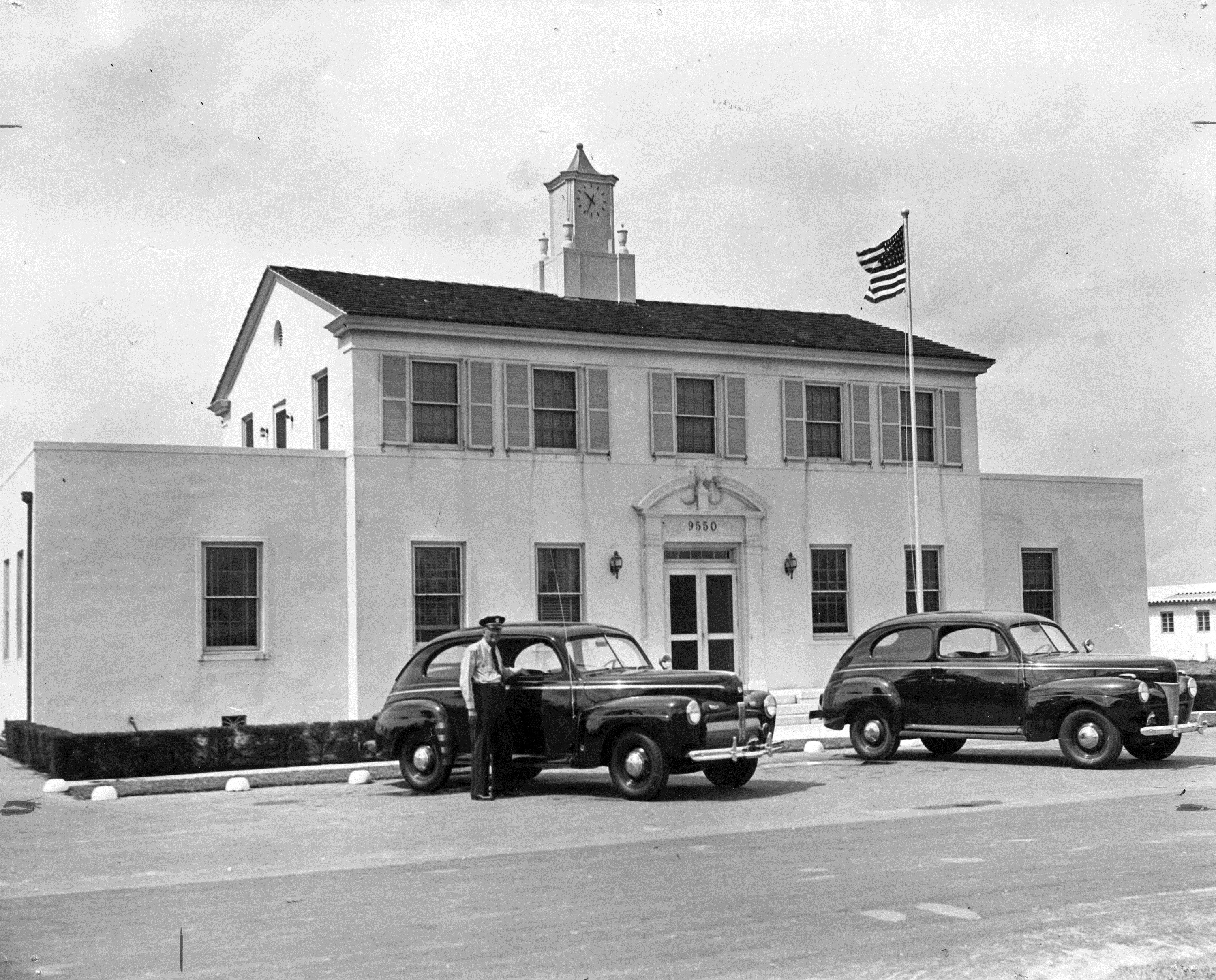 Surfside Town Hall, 1945. James P. Wendler, photographer. South Florida Photograph Collection, HistoryMiami Museum, 1995-339-8.