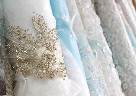 beaded lace fabric selection