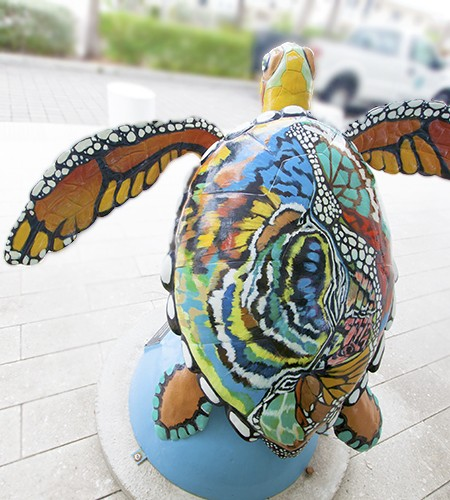 Surfside Sea Turtle Art by DL Watson