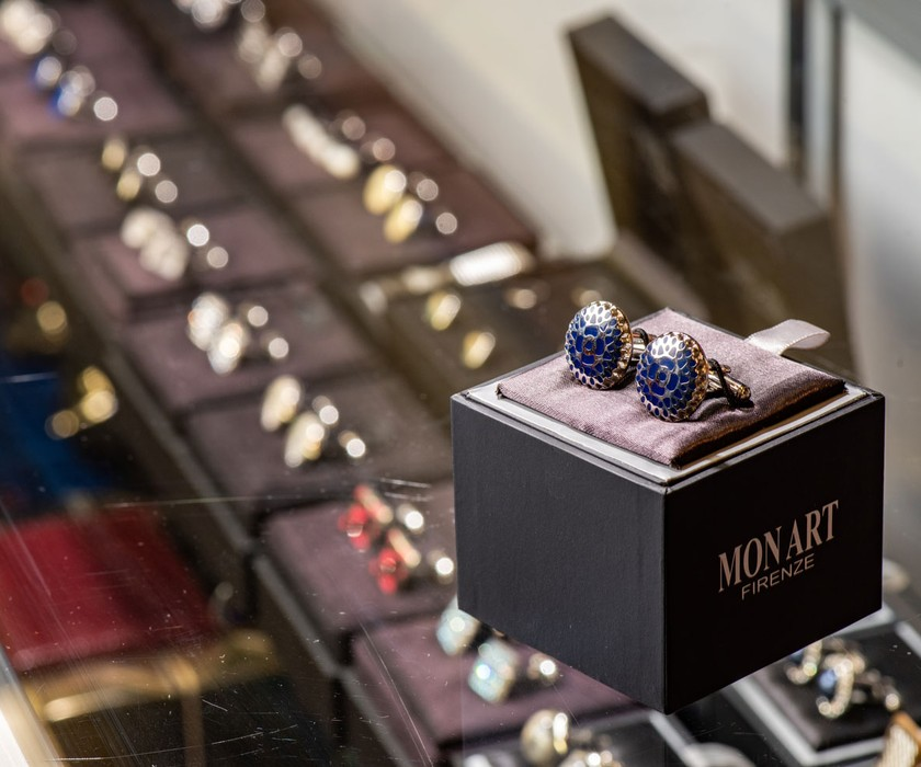 Cufflinks at Condotti Store
