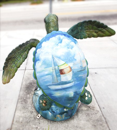 Surfside Sea Turtle Art by Mary J Rose