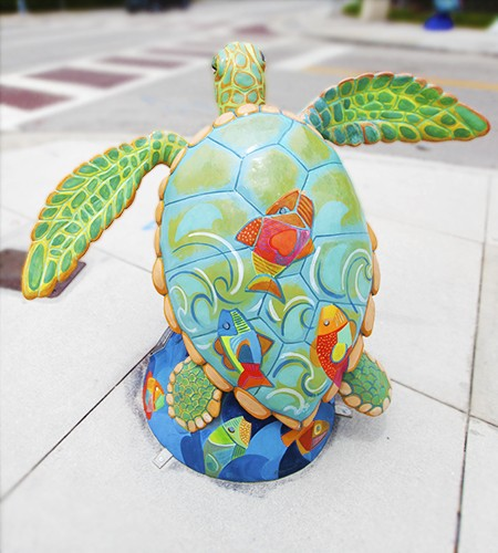 Surfside Sea Turtle Art by Diana Sierra