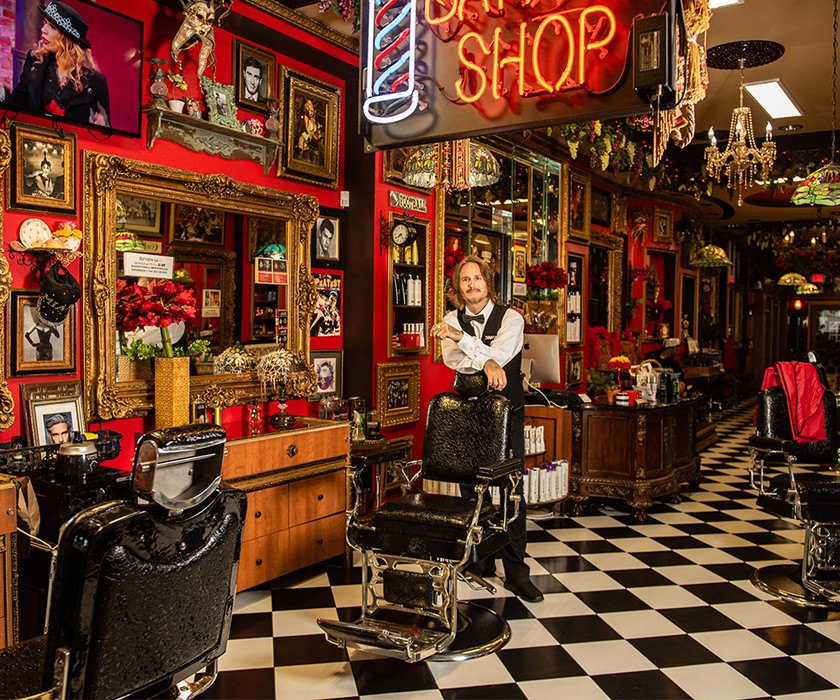 Picture of Razzledazzle barbershop featuring male employee