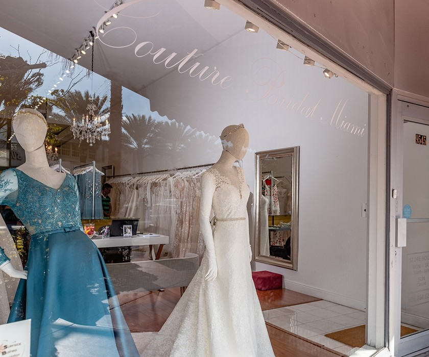 Storefront of Couture Bridal