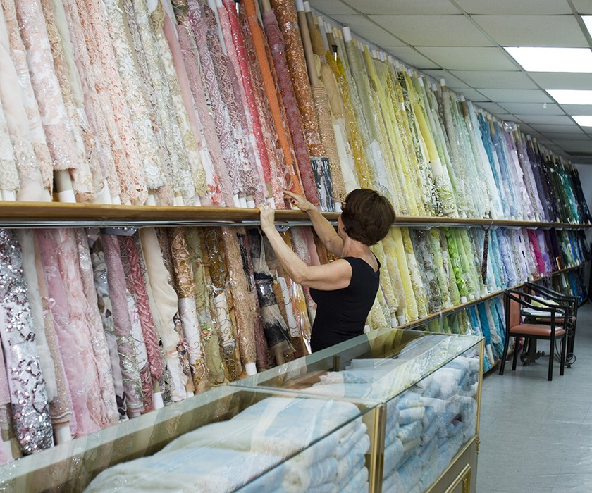 instore fabric selection