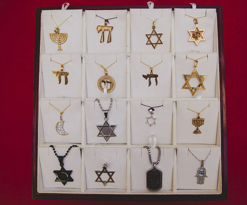 Charm necklace selection