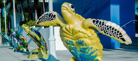 Surfside sea turtle statue