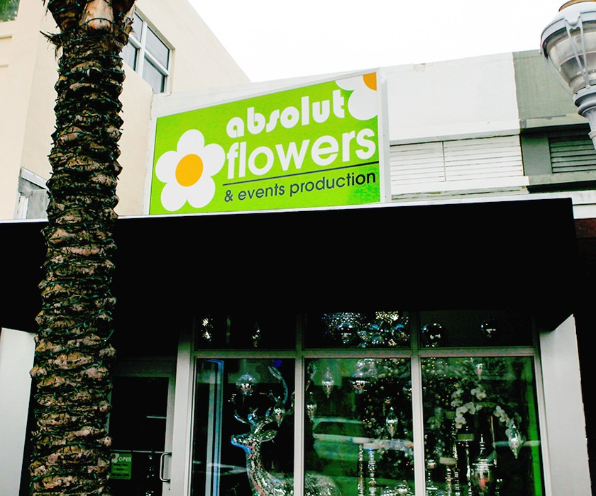 Absolut Flowers storefront