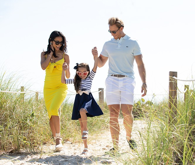 Take a stroll with your family at Surfside's beaches